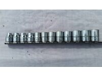 "SNAP-ON TOOLS - 3/8"" SOCKET SET 8-19mm (GOOD/USED CONDITION)"