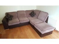 L shaped sofa, good condition