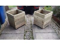 Large Box planters...Decking boards