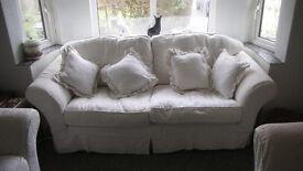 Beautiful Cream 3 Seater Sofa