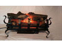 Log effect inset electric fire