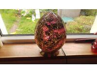 Large Purple Crackle Egg lamp