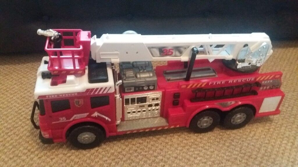 Large fire engine with lights and sounds