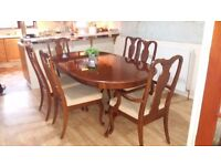 Beautiful extending table and 6 chairs in excellent condition. Delivery can be arranged.