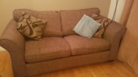 Brown dfs sofa bed good condition pull out bed with metal frame