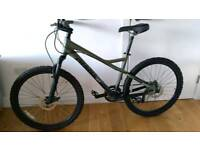 Giant double disc and suspension mountain bike