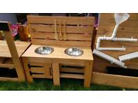 Double bowl with oven mud kitchen