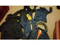 Bundle of boys jackets Tresspass etc age 9 - 12