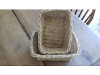 Pair of wicker baskets. Excellent condition. £4 each