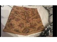 Vintage high waisted shorts grunge flower hipster