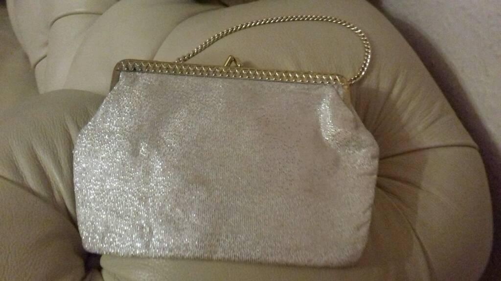 Small glitter clutch bag