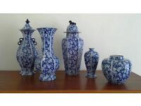 Old Blue and White Vases