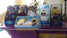 Collectable meerkats boxed with certificates