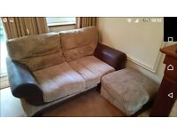 Good quality sofa and storage poof
