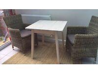 IKEA White Burch Table 74 x 74 x 74cm (2.4 x 2.4 x 2.4ft)