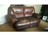 brown leather electric recliner sofas 2+1+1