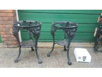 Cast iron lady head tables