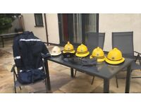 Firemen's collector helmets and other equipment