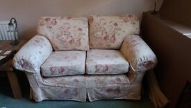 2 x Two Seater MultiYork sofas with removable covers (reduced price)
