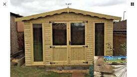 10x10 LOG CABIN 36mm DOUBLE TONGUE & GROOVE TANALISED HEAVY DUTY GARDEN OFFICE SUMMER HOUSE