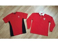 'Wales' T-shirt and Long sleeved shirt - Size Small - Adult / Teenager Youth - Hardly worn - Bargain