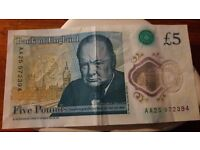 Five £ note for sale
