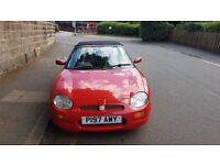 MGF 1.8 VVC Red Roadster Convertable 1997 P reg