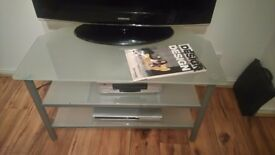 Frosted glass T.V. D.V.D. Stand / Unit