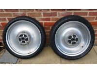 HARLEY DAVIDSON V ROD SOLID ALLOY WHEELS AND TYRES