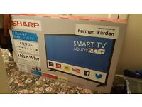 NEW TV 49 inch *BRAND NEW UNOPENED*,Sharp TV,Full HD 1080p,Smart LED TV, Built in Wifi & Freeview HD