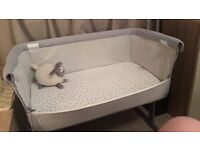 Next2Me Bedside Crib Silver (grey)