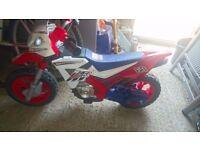 Children's battery powered motorbike