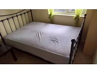 Double Metal Bed with Mattress