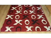 Large Red Patterned Rug