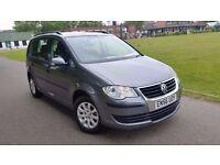 VW VOLKSWAGEN TOURAN 1.6 7 SEATER 2007 NEW SHAPE FULL HISTORY VERY CLEAN NEW MOT