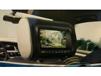 Car dvd player headrest