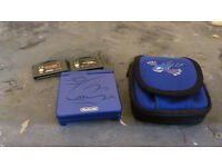 Gameboy SP Blue Pokemon Kyogre edition, case and 2 games