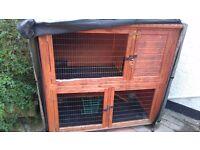 Rabbit Hutches and small run for sale