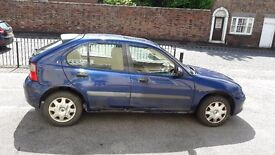 Blue Rover 25 1.4 petrol 2000 / MOT until May 2018/ 62500 miles only