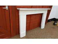 Pine fire surround finished in Annie Sloan chalk paint 'Old White'