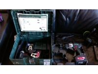 metabo 18v lithium drill & impact driver, 2x 4ah batteries, 3 months old, vgc
