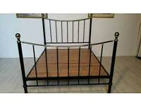 Black Metal Queen Size Bed Frame 001