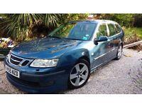 Saab 9-3 Auto 2.8 V6 Aero Sedan, Blue, 123000, sunroof, sat Nov, cream leather. Good condition