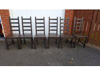 6 Ikea Kaustby Chairs FREE DELIVERY (02096)