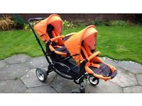 Twin pram/ double buggy/pushchair/ABC Zoom