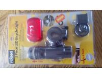 2 Piece Bicycle Light Set Rolson Quality TOOLS