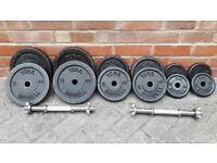 60KG YORK CAST IRON DUMBBELL WEIGHTS SET - 2 x 30KG