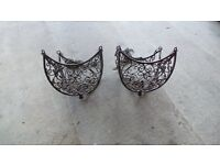 Ornamental Iron Hanging Baskets.
