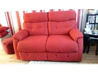 2 seater seatie and 2 chairs