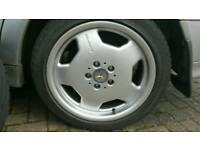 "Mercedes staggered genuine AMG Monoblock 17"" Alloy wheels with Tyres"